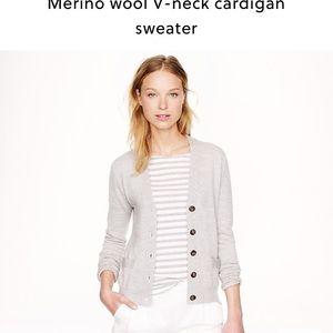 J. Crew merino wool v neck cardigan